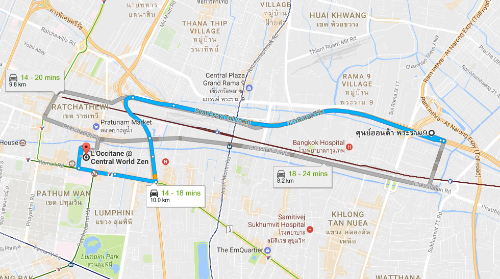 traffic-from-rama9-to-central-world