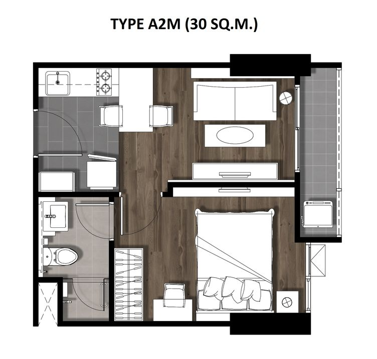 03One Bedroom 30 Sqm. TYPE A2M