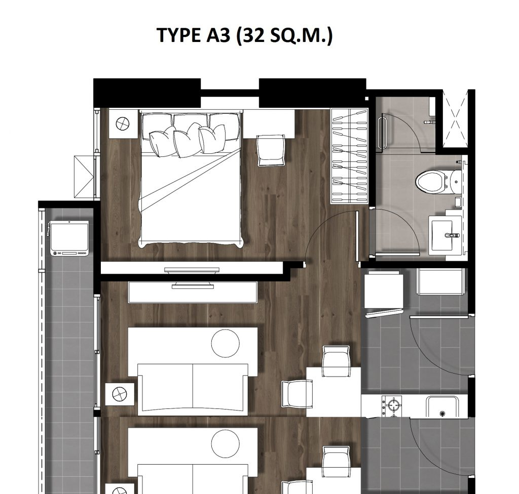 04One Bedroom 32 Sqm. TYPE A3