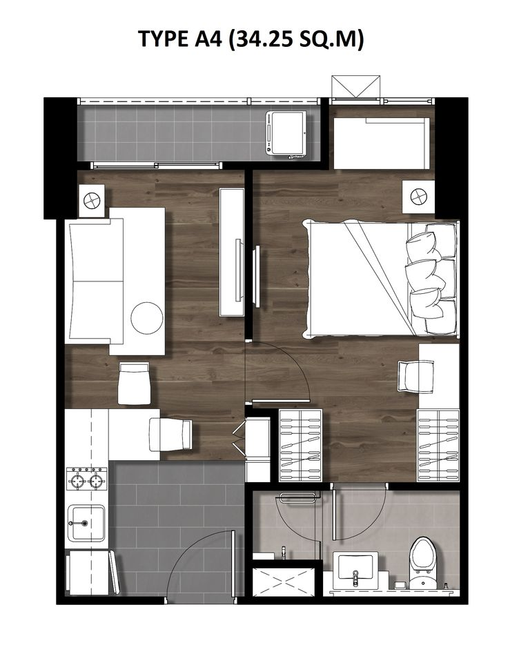 06One Bedroom 34.25 Sqm. TYPE A4