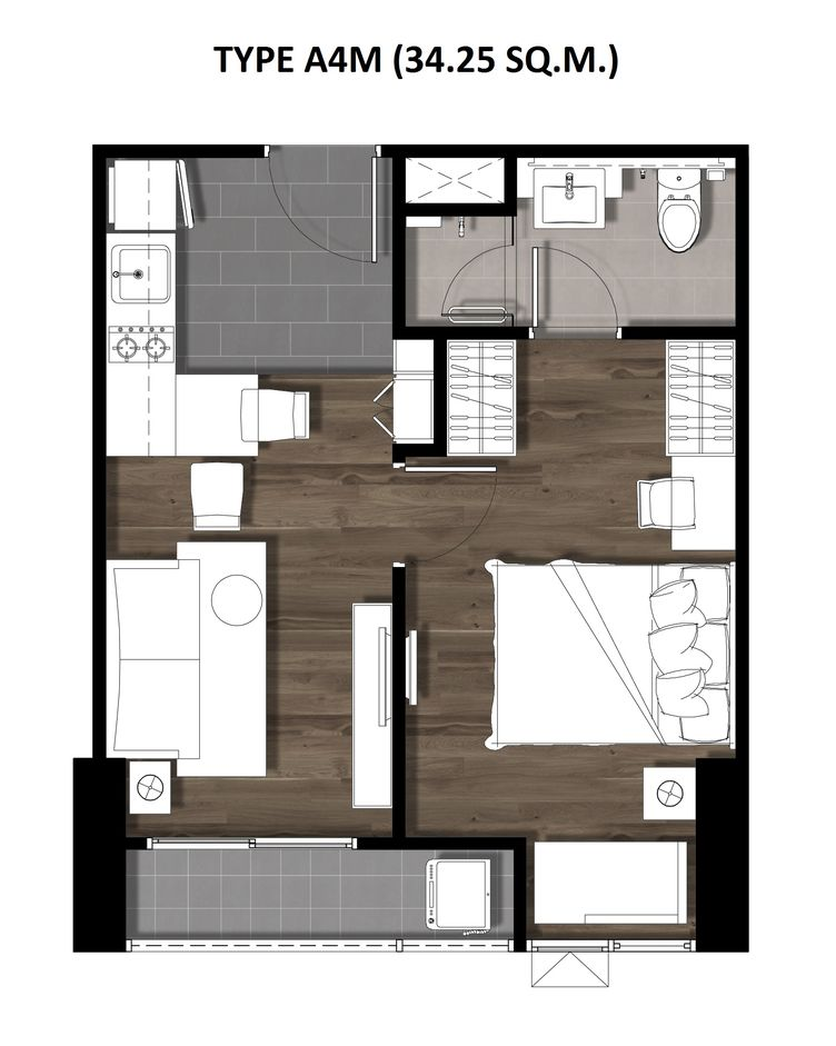 07One Bedroom 34.25 Sqm. TYPE A4M