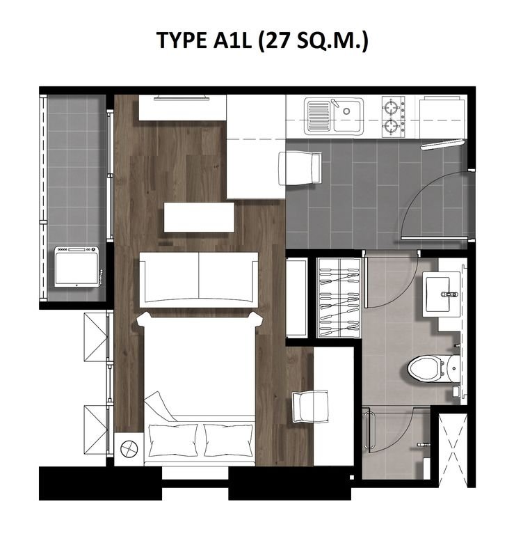 One Bedroom 27 Sqm. TYPE A1L