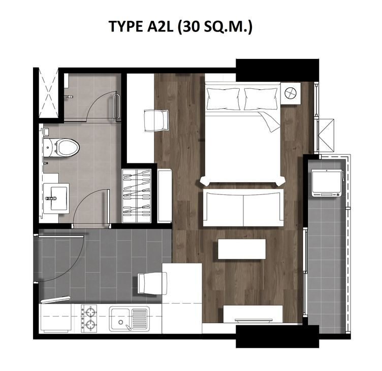 One Bedroom 30 Sqm. TYPE A2L