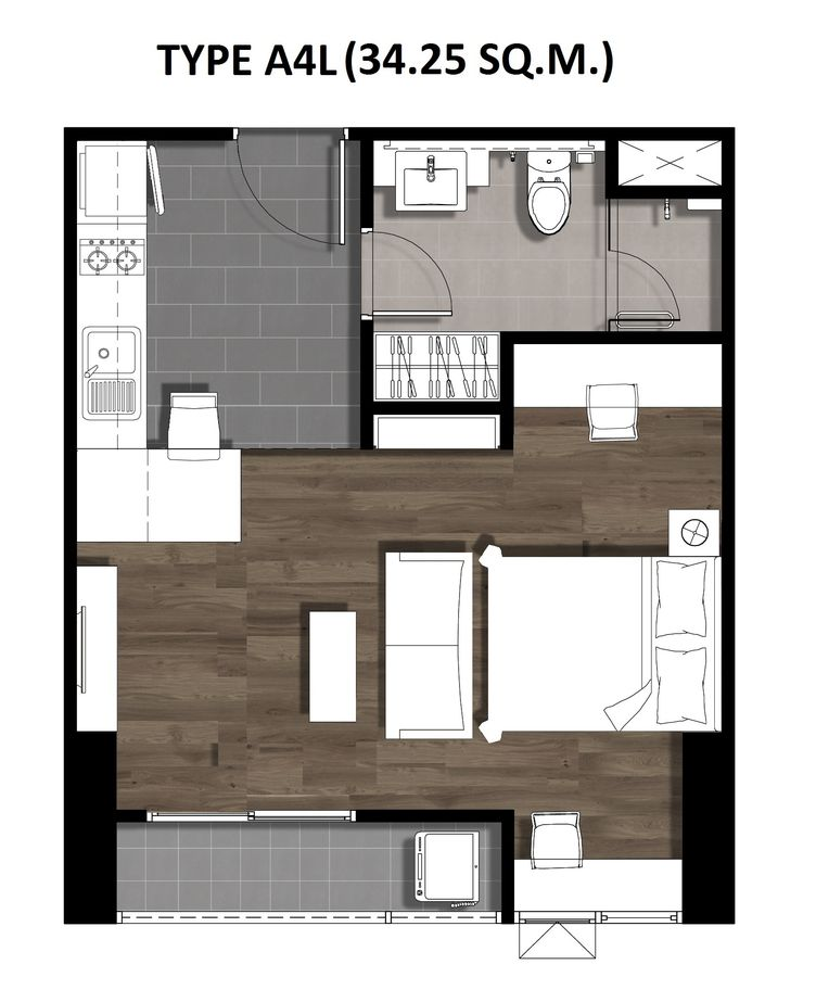 One Bedroom 34.25 Sqm. TYPE A4L