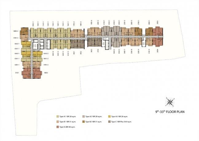 Niche Mono Bearing Floor Plan 9th-33th
