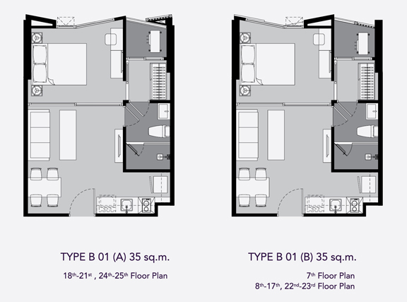 one bed B1(35)