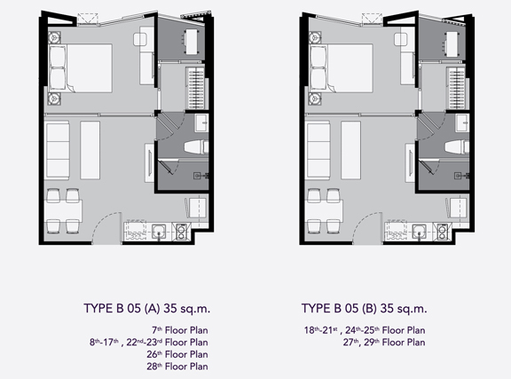 one bed B5(35)