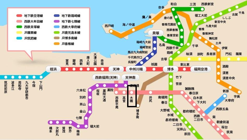 福岡地圖 1