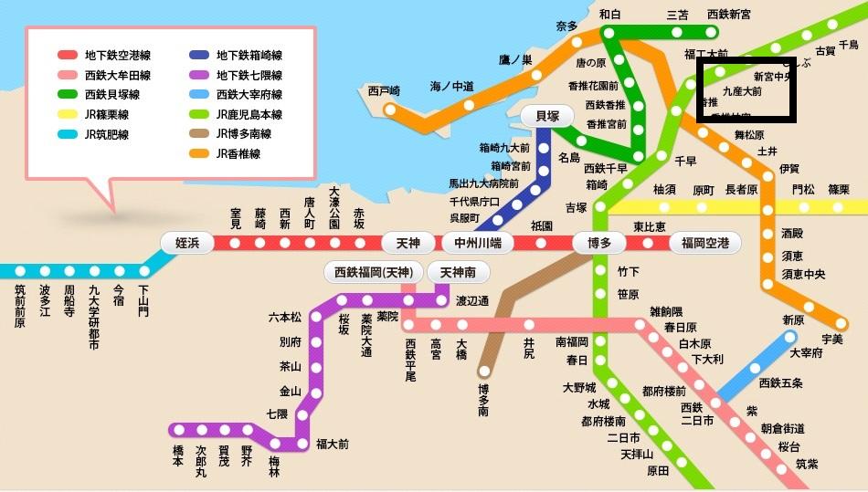 福岡地圖1