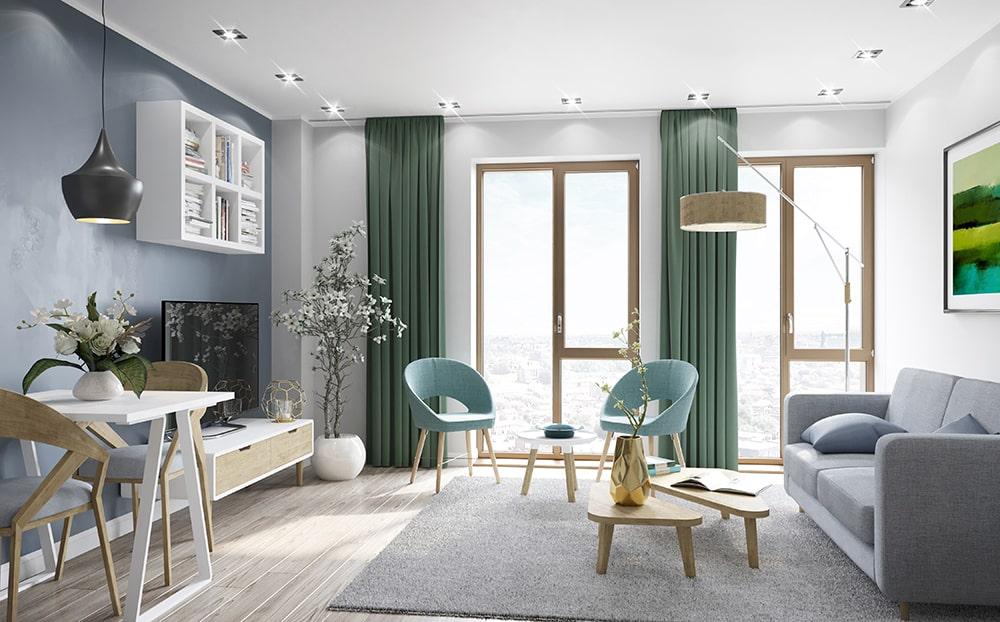 5Bridgewater Wharf - Apartment Living Room-min