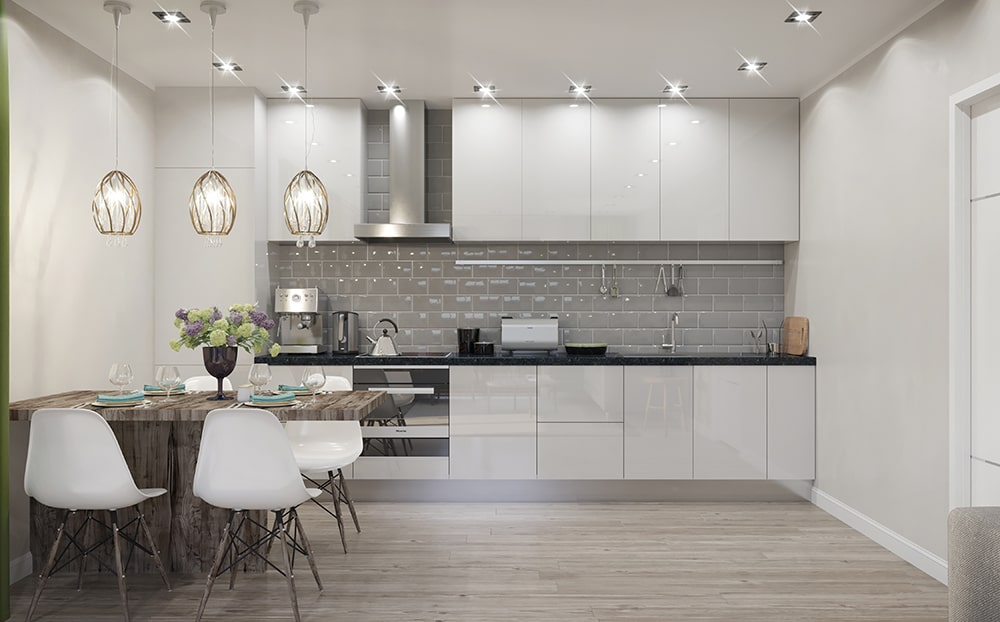 7Bridgewater Wharf - Apartment Kitchen 1-min